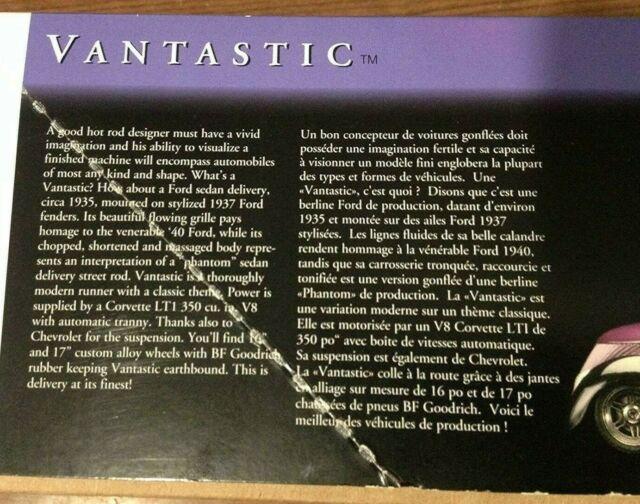 Testors Vantastic Model Kit #5309 Scale 1 24 for sale online