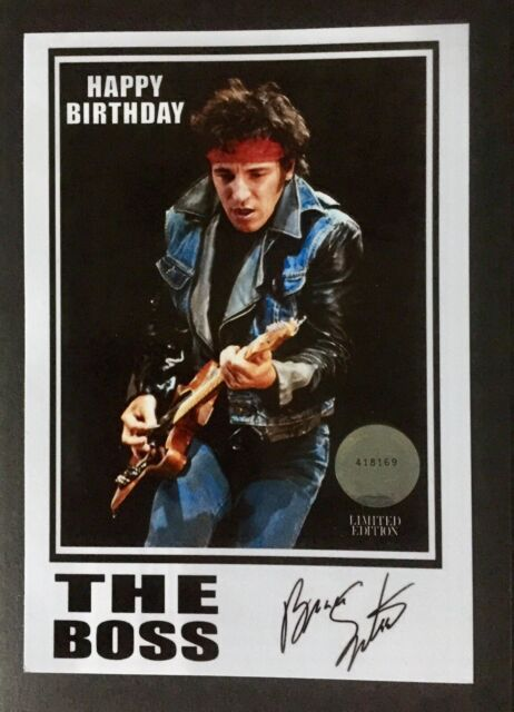 Fantastic Pop Art The Boss Bruce Springsteen Greeting Birthday Card For Sale Funny Birthday Cards Online Bapapcheapnameinfo