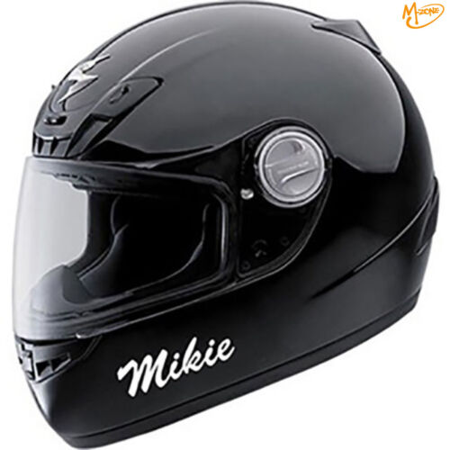 2 x REFLECTIVE CUSTOME PERSONALISED MOTORCYCLE HELMET NAME STICKERS BEST GIFTS=5