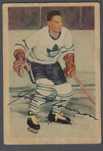 Very Rare 1953-54 Parkhurst Hockey Card Jim Thomson Factory Mis-Print