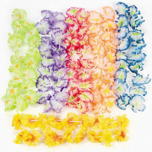 24-Hawaiian-Leis-tropical-LUAU-Wedding-Party-Favors-Gifts-Costume-Hula-Necklace