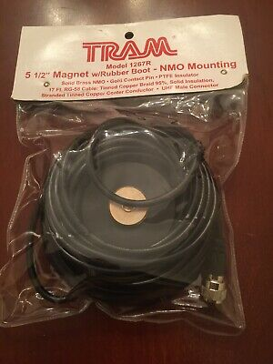 "Tram 1267R-MUHF 5 1//2/"" Magnetic Antenna Mount w//MINI UHF Male For NMO Antennas"