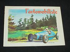 REVUE L AUTOMOBILISTE  N° 53 1979 SAROLEA MOTO MR GORDINI 1899-1979 WANDERER
