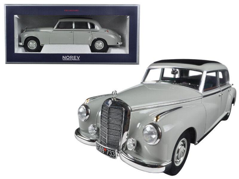 1 18 Norev 1955 Mercedes Benz 300 grigio 183578 grigio Coche Modelo Diecast