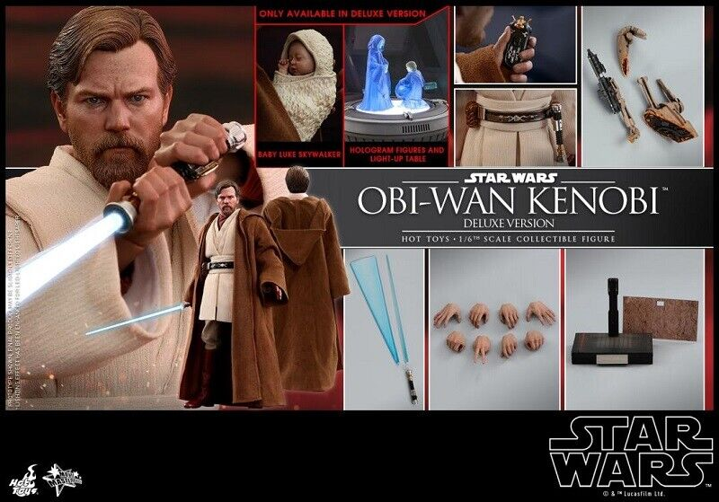 Caliente giocattoli estrella guerras EP  III 1 6th  Obi-Wan Kenobi (Deluxe Version) Collectible  negozio outlet