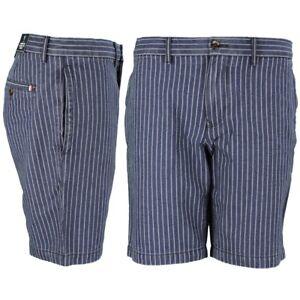 06983664 Tommy Hilfiger Men's Chino Shorts Blue White Striped Brooklyn ...