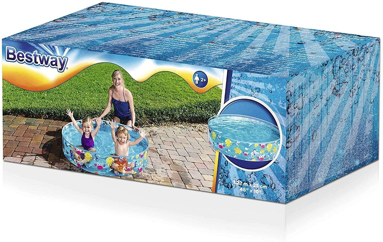 Bestway Fill N Fun Kids Paddling Swimming Pool Easy Set Up Rigid Vinyl PVC