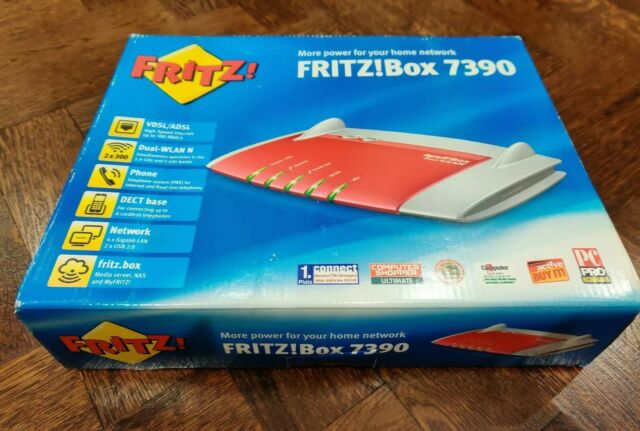 AVM FritzBox Fon WLAN 7390 300 Mbps Gigabit Routeur sans fil (20002527) UK Edition