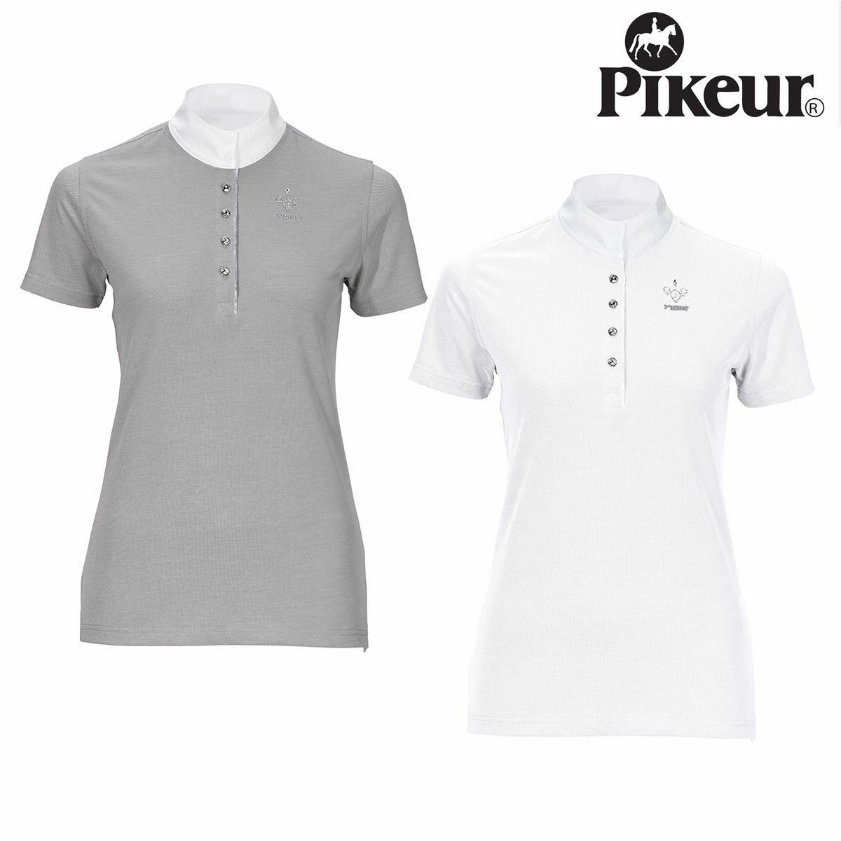 Pikeur  Ladies Competition Short Sleeve Shirt Horse Riding Show Jumping Summer  exciting promotions
