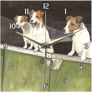 No-292-Jack-Russells-Sue-Podbery-Wall-clock-beautiful-handmade-gift-present-dogs