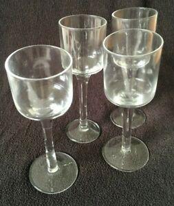 Long-Stem-CLEAR-Sherry-Cordial-Liqueur-Glasses-Set-of-4-VINTAGE-CLASSIC-6-034