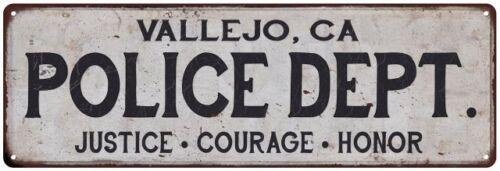Home Decor Metal Sign Gift 106180012214 CA POLICE DEPT VALLEJO