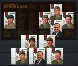 Australia-Australia-2015-Viktoria-Croce-Victoria-Cross-soldati-militare-MNH