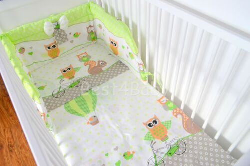 Baby Bedding Set Bumper-PILLOW-QUILT COVER Bow Free !!! Luxury 3 Pieces Nursery