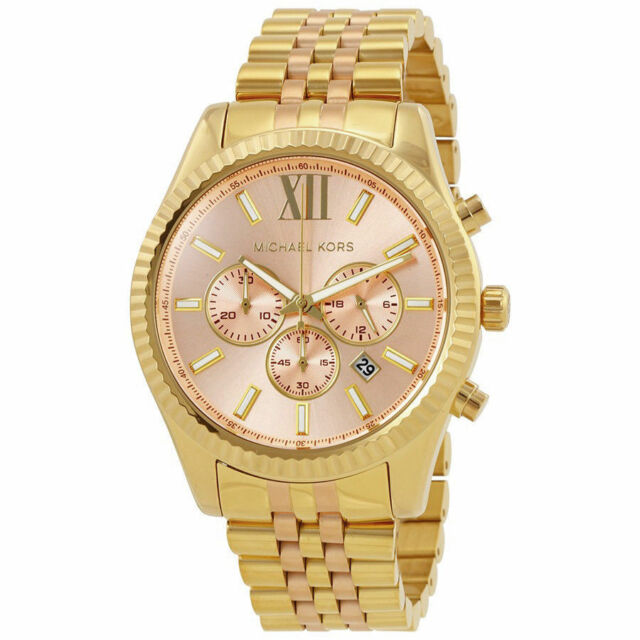 Michael kors womens mk6473 lexington chronograph two tone stainless michael kors mk6473 lexington casual watches quartz chronograph unisex watch gumiabroncs Gallery