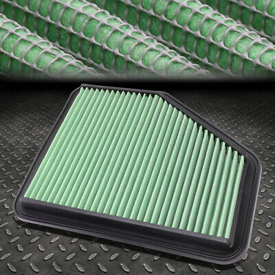 FOR 00-11 LEXUS GS300//GS350//GS450H//SC430 GREEN WASHABLE HIGH FLOW AIR FILTER