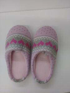 Avon Size Small Pink Hearts Memory Foam Slippers Ebay