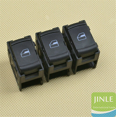 OEM 3Pcs Passenger Side Electric Window Single Switch For Jetta Golf 3B0959855B