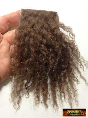 M00755 MOREZMORE Hair Tibetan Lamb Premium CLASSIC BROWN 4x4 Doll