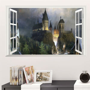 Harry Potter Diagon Alley Night 3D Window View Decal WALL STICKER Art Mural H722