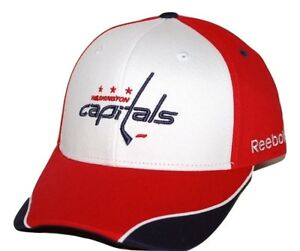 e562effe1 Details about Washington Capitals Reebok NHL Piped Bill Adjustable Hockey  Cap Hat OSFM