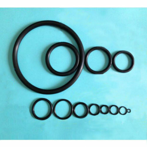 5-30mm Oil Resistant Seal Washers 1mm 1.9mm NBR Rubber Black O-Ring Mechanical