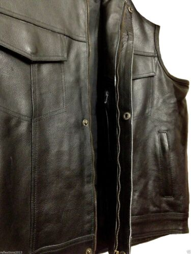MOTORCYCLE Leather VEST Rider American STYLE SONS OF ANARCHY TOURING BIKER Vest