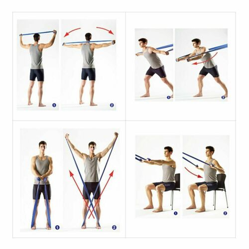 Resistance Exercise Band-1.85 Meter-Pilates Strength Conditioning Yoga Insanity