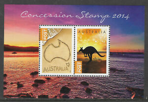 AUSTRALIA-2014-CONCESSION-Stamps-Ex-YEAR-BOOK-Souvenir-Sheet-Limited-Edn-MNH