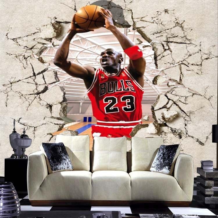 3D Basketball Jordan 7 Wall Paper Murals Wall Print Wall Wallpaper Mural AU Kyra