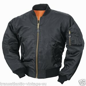 3xl Jacket Pilot Uomo Classic Nero S Us Flight Security Bomber Biker 1 Airforce Ma tqqR7Z