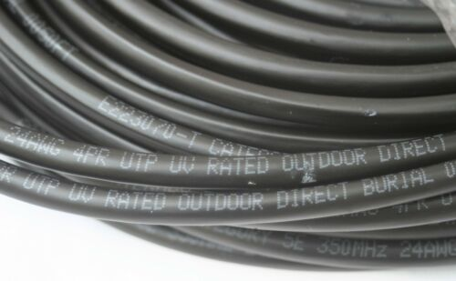 40FT CAT5 OUTDOOR WATERPROOF ETHERNET CABLE CAT5e Direct Burial Internet RJ45