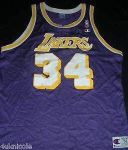 Shaquille O neal Los Angeles Lakers Champion NBA Basketball Jersey ... 992fe9e3e