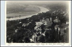 DRESDEN-um-1940-Luftbild-Bad-Weisser-Hirsch-Luisenhof-Fliegeraufnahme-alte-AK