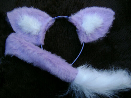 Lilac Fox Ears And Sweet Tail Instant Animal Fancy Dress Costume Dress Up