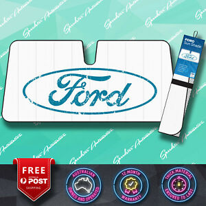 56d9d8d3 Details about OFFICIAL FORD, EXTRA THICK CAR FRONT SUN SHADE VISOR WINDOW  PROTECTOR, FOLDS UP