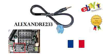 Cable auxiliaire adaptateur mp3 mini iso autoradio jack Aftermarket Philips 8pin