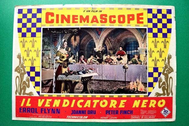 T04 FOTOBUSTA IL VENDICATORE NERO ERROL FLYNN JOANNE DRU PETER FINCH HENRY LEVIN