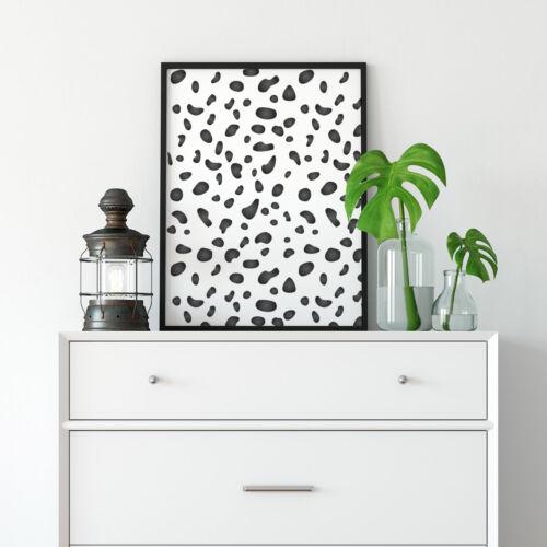 Large Reusable Dalmatian Spots Template Dalmatian Print Pattern Wall Stencil