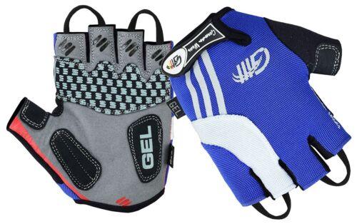 Fahrrad Radleder Handschuhe Fahrradhandschuhe Blau//Weiss German Wear