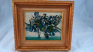 Flower Pot Painting Signed Peinture Pot De Fleur Signee Ebay