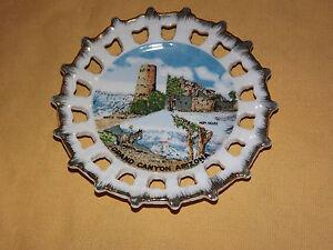 VINTAGE GRAND CANYON ARIZONA HOPI HOUSE SOUVENIR  DISH PLATE