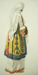 Agressif Costume Turc Tradsitionnel Xixe Femme, C1880-60 Dessin Original Turquie Turquey ModéLisation Durable