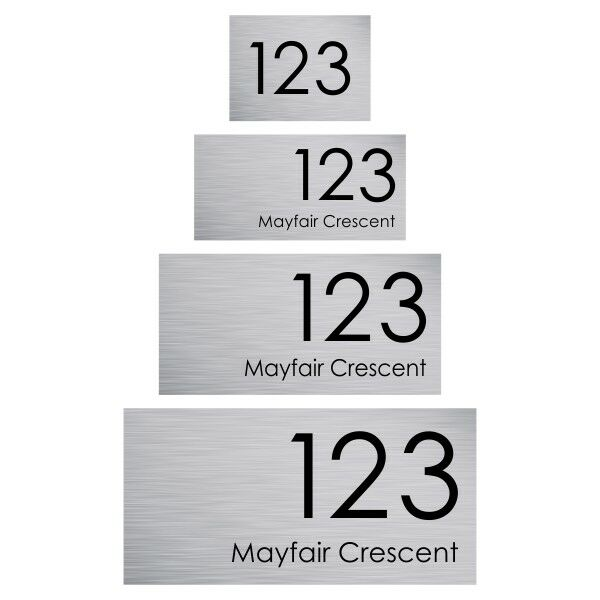 CUSTOM House Sign - PERSONALISED Street Number & Address PLAQUE with Size option