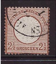 Deutsches Reich, 21a, kleine Marke, gestempelt, Brustschild, geprüft (21136)