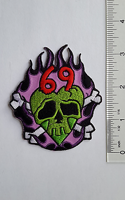 Blue GUITAR  IRON ON  BIKER cosplay MUSIC Embroidered PATCH Applique By P/&L