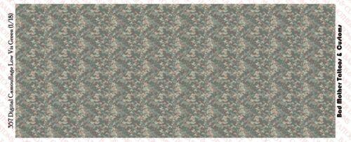 Camouflage Digital Low Vis Green Waterslide Decals 1//18 scale figures