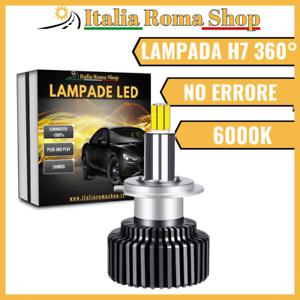 LAMPADA LED SINGOLA H7 6000K CANBUS 360° SPECIFICO FARO LENTICOLARE NO ERRORE