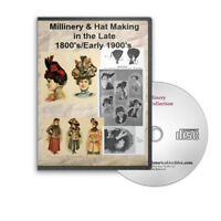 Millinery Flapper Hat Making Patterns Catalogs 12 Books On Cd - D315