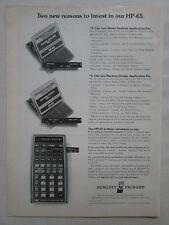 11/1975 PUB HP HEWLETT PACKARD HP-65 SCIENTIFIC CALCULATOR CALCULATRICE AD